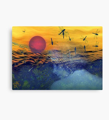 """Waves of Life"" Canvas Print"