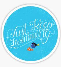 Just Keep Swimming Sticker