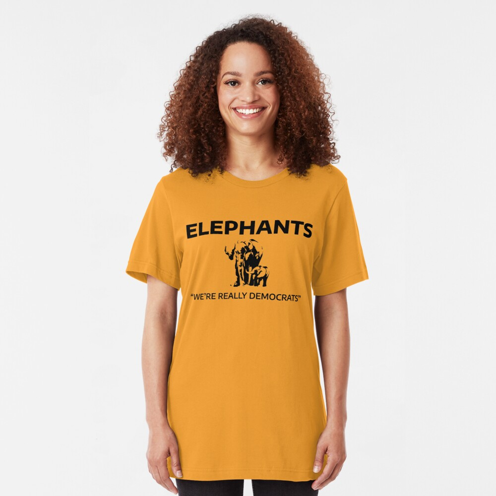 Elephants: We're Really Democrats Slim Fit T-Shirt