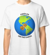 Fiddler on the Earth Play on Words Joypixels Emoji Classic T-Shirt