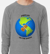Fiddler on the Earth Play on Words Joypixels Emoji Lightweight Sweatshirt
