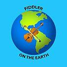 Fiddler on the Earth Play on Words Joypixels Emoji by sandyspider