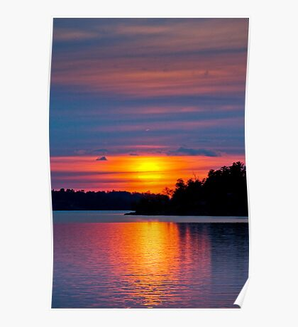 Evening on the Lake Poster
