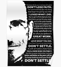 Steve Jobs–Don't Settle Poster