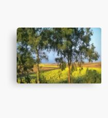 Trees watching over the fields Canvas Print