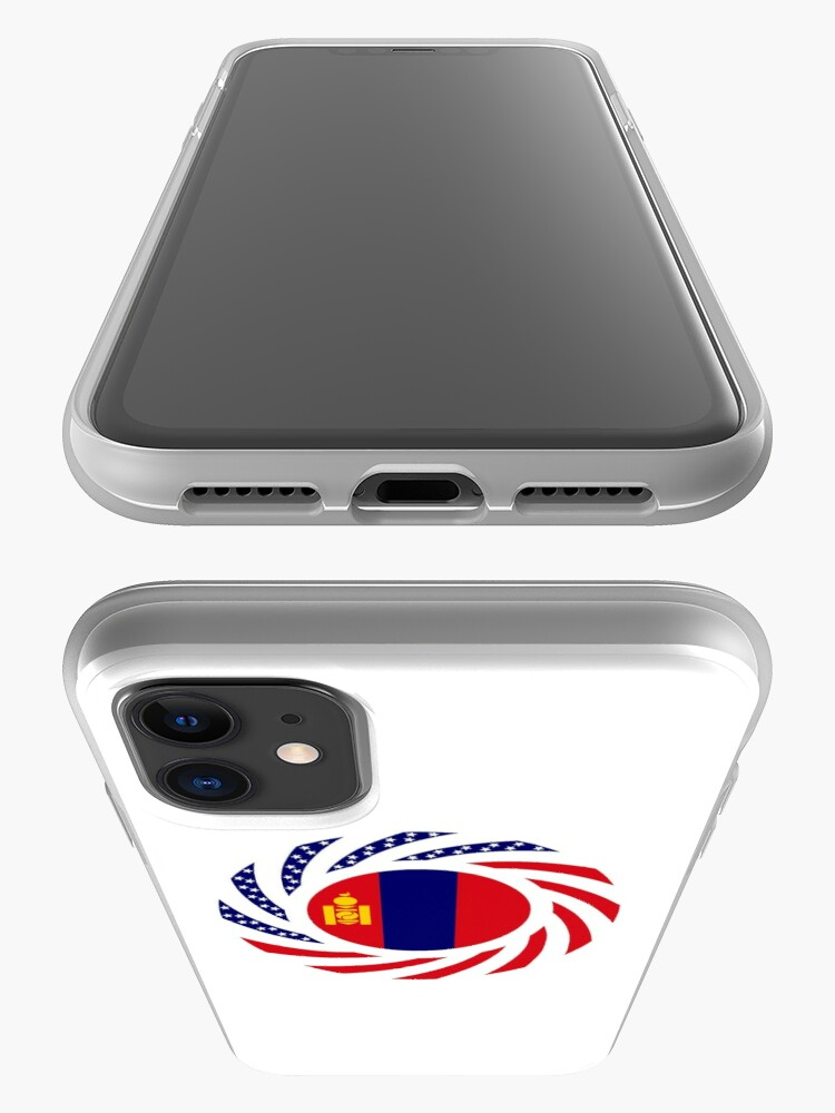 Alternate view of Mongolian American Multinational Patriot Flag Series iPhone Case & Cover