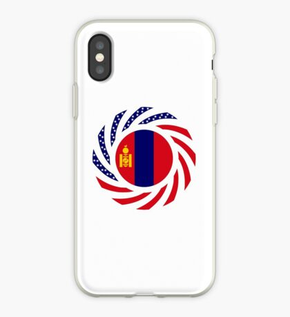 Mongolian American Multinational Patriot Flag Series iPhone Case