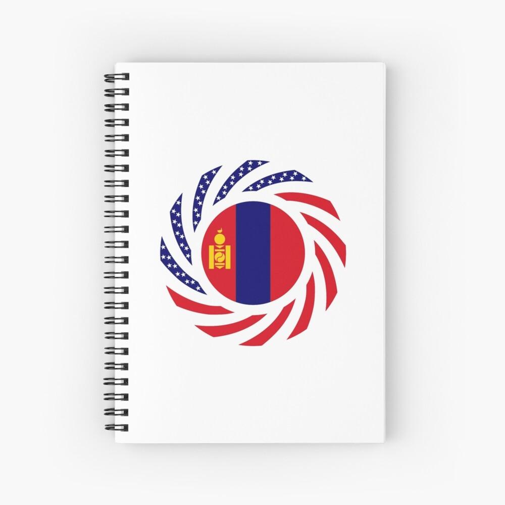 Mongolian American Multinational Patriot Flag Series Spiral Notebook
