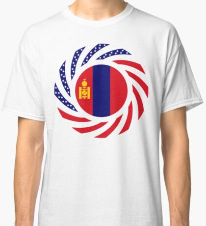 Mongolian American Multinational Patriot Flag Series Classic T-Shirt