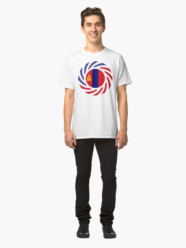 Alternate view of Mongolian American Multinational Patriot Flag Series Classic T-Shirt