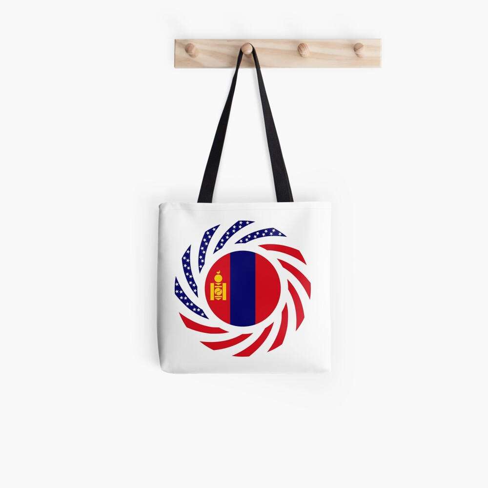 Mongolian American Multinational Patriot Flag Series Tote Bag