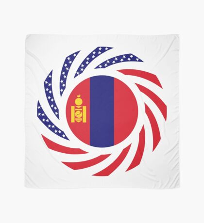 Mongolian American Multinational Patriot Flag Series Scarf