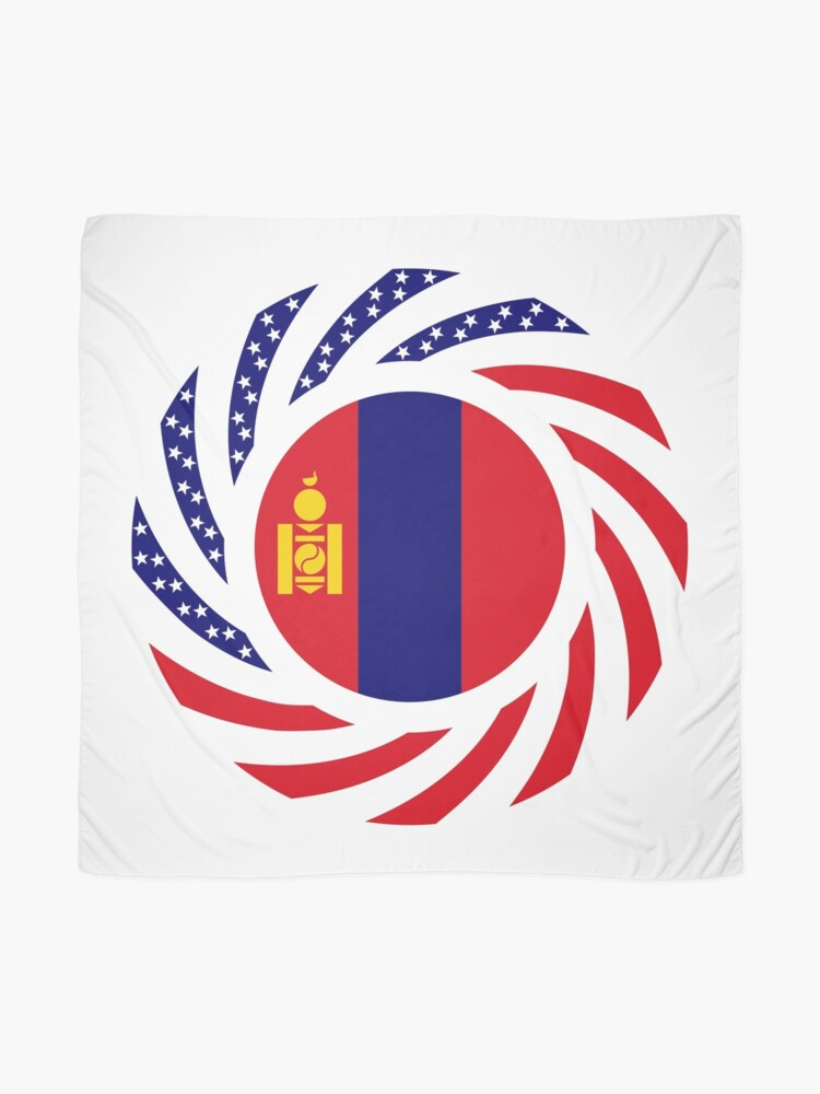 Alternate view of Mongolian American Multinational Patriot Flag Series Scarf