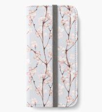 Blühen. Aquarell nahtlose Blumenmuster iPhone Flip-Case/Hülle/Klebefolie