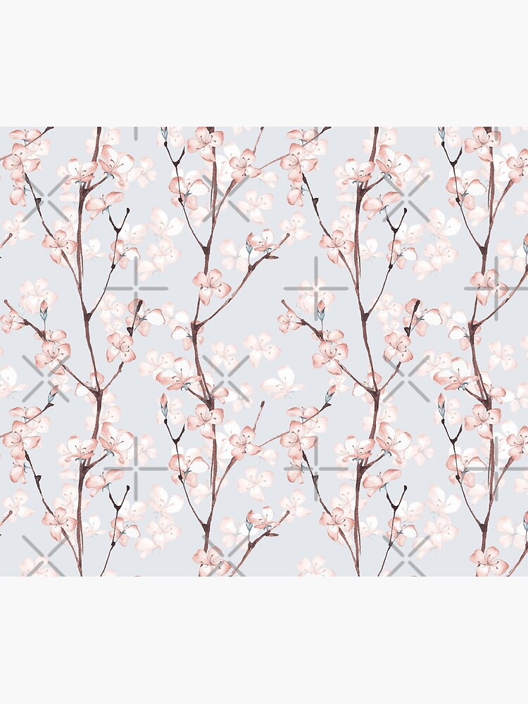 Blossom. Watercolor seamless floral pattern by Gribanessa