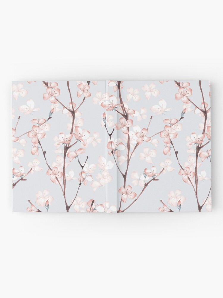 Alternate view of Blossom. Watercolor seamless floral pattern Hardcover Journal