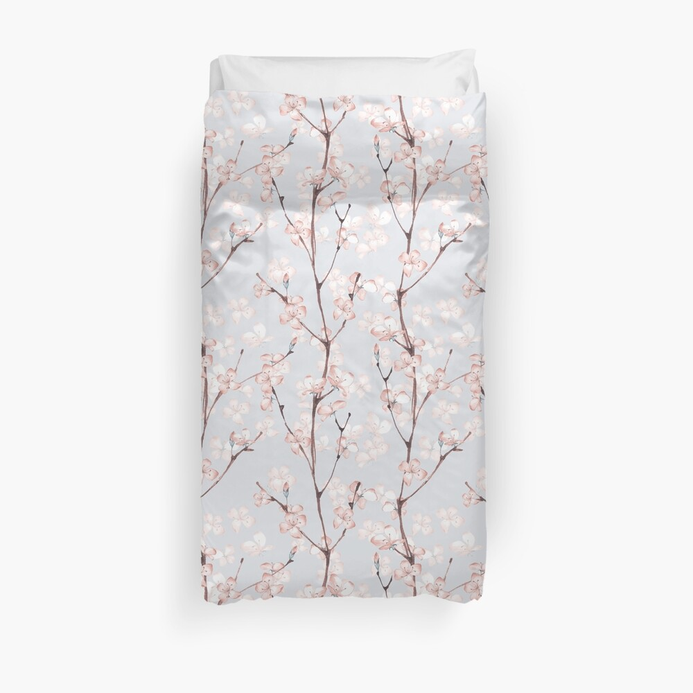 Blossom. Watercolor seamless floral pattern Duvet Cover