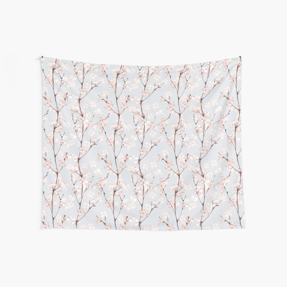 Blossom. Watercolor seamless floral pattern Wall Tapestry
