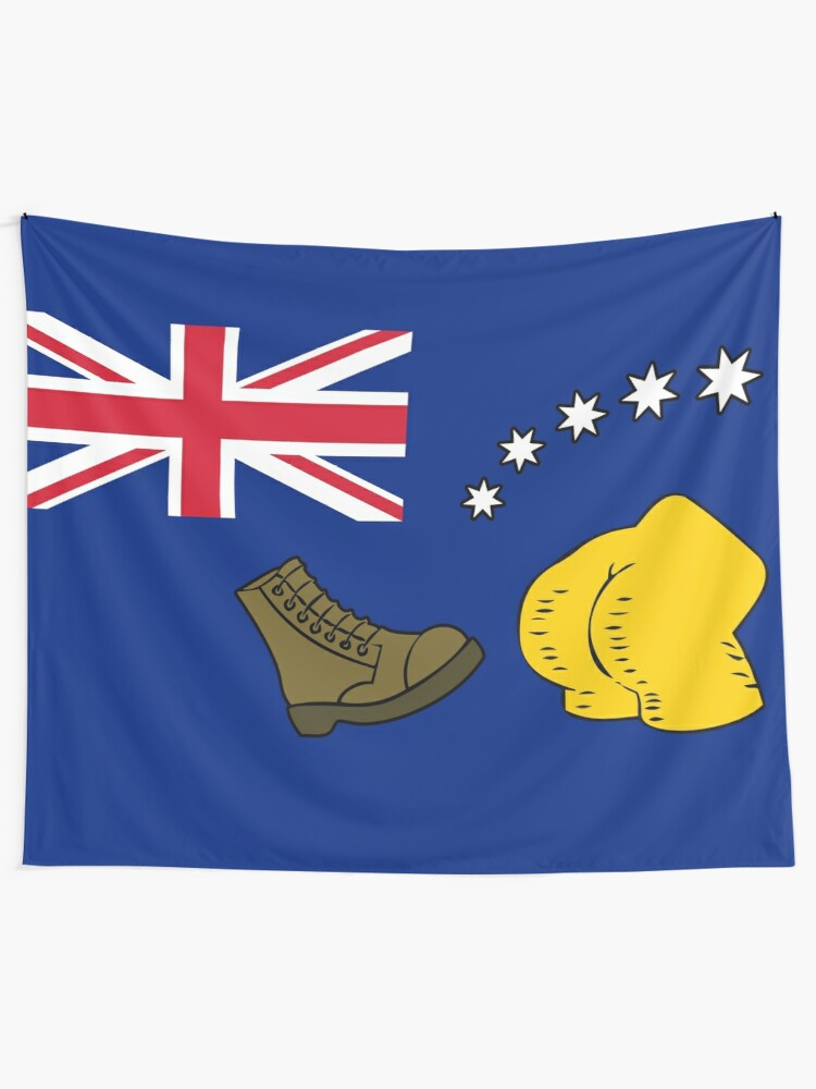 Alternate view of New Australia Flag Wall Tapestry