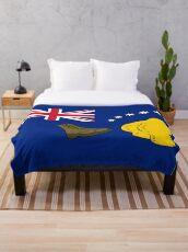 New Australia Flag Throw Blanket