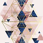 Erröten Rosa und Marine Geometrische Perfektion von UrbanEpiphany