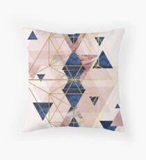 Cojín Blush rosa y azul marino la perfección geométrica