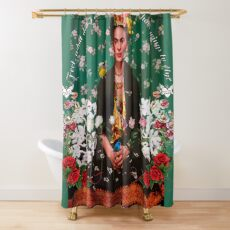 Wings to Fly Frida Kahlo Shower Curtain