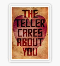 The Teller Cares About You Transparent Sticker