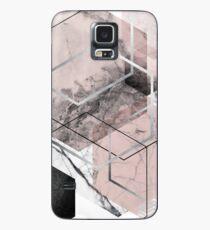 Erröten und Grey Geometric Hülle & Klebefolie für Samsung Galaxy