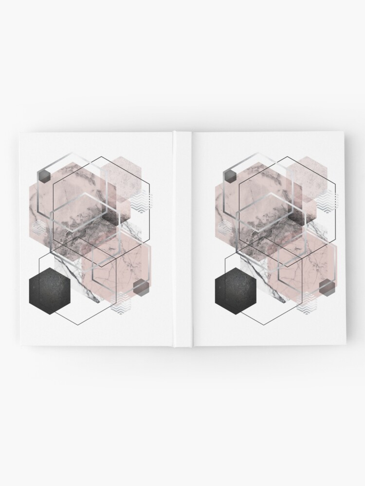 Alternate view of Blush and Grey Geometric Hardcover Journal