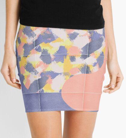 Messy Painted Tiles 03 #redbubble #midmod Mini Skirt