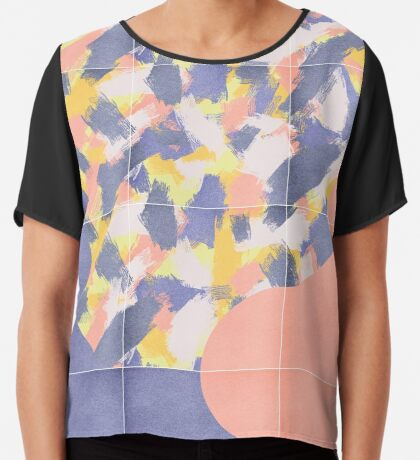 Messy Painted Tiles 03 #redbubble #midmod Chiffon Top