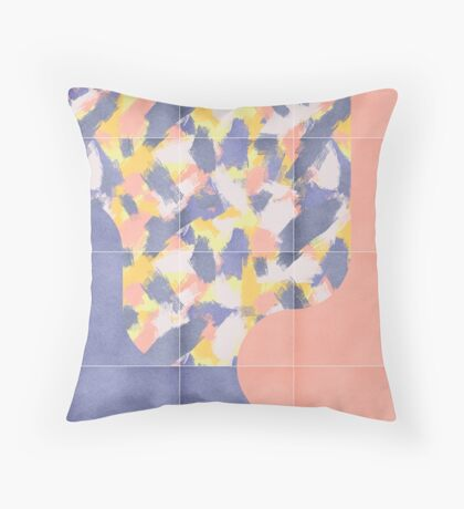 Messy Painted Tiles 03 #redbubble #midmod Floor Pillow