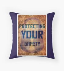 Protecting Your Safety Throw Pillow