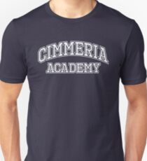 Cimmeria Academy Night School Logo Slim Fit T-Shirt
