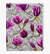 Watercolor Magnolia Tribal iPad Case/Skin