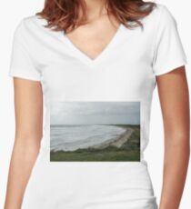 Long beach stormy. Women's Fitted V-Neck T-Shirt