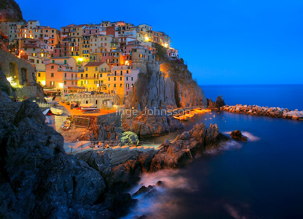 Manarola Notte by Inge Johnsson