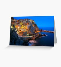 Manarola Notte Greeting Card