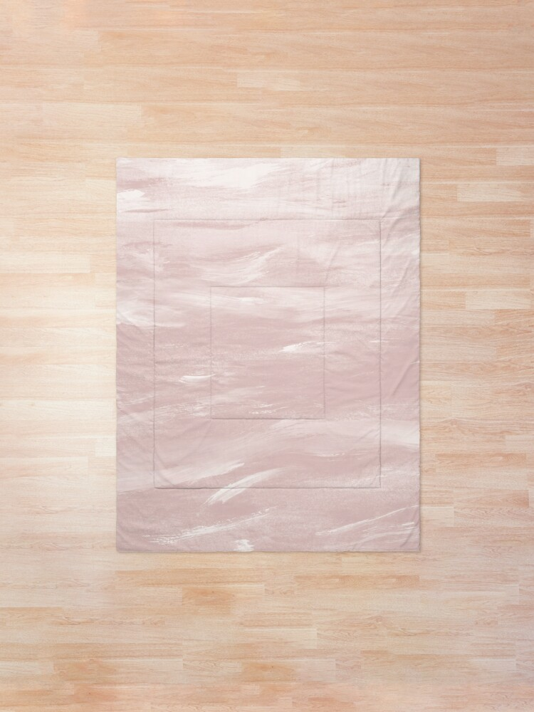 Alternate view of Blush Watercolor Dream #1 #painting #decor #art Comforter