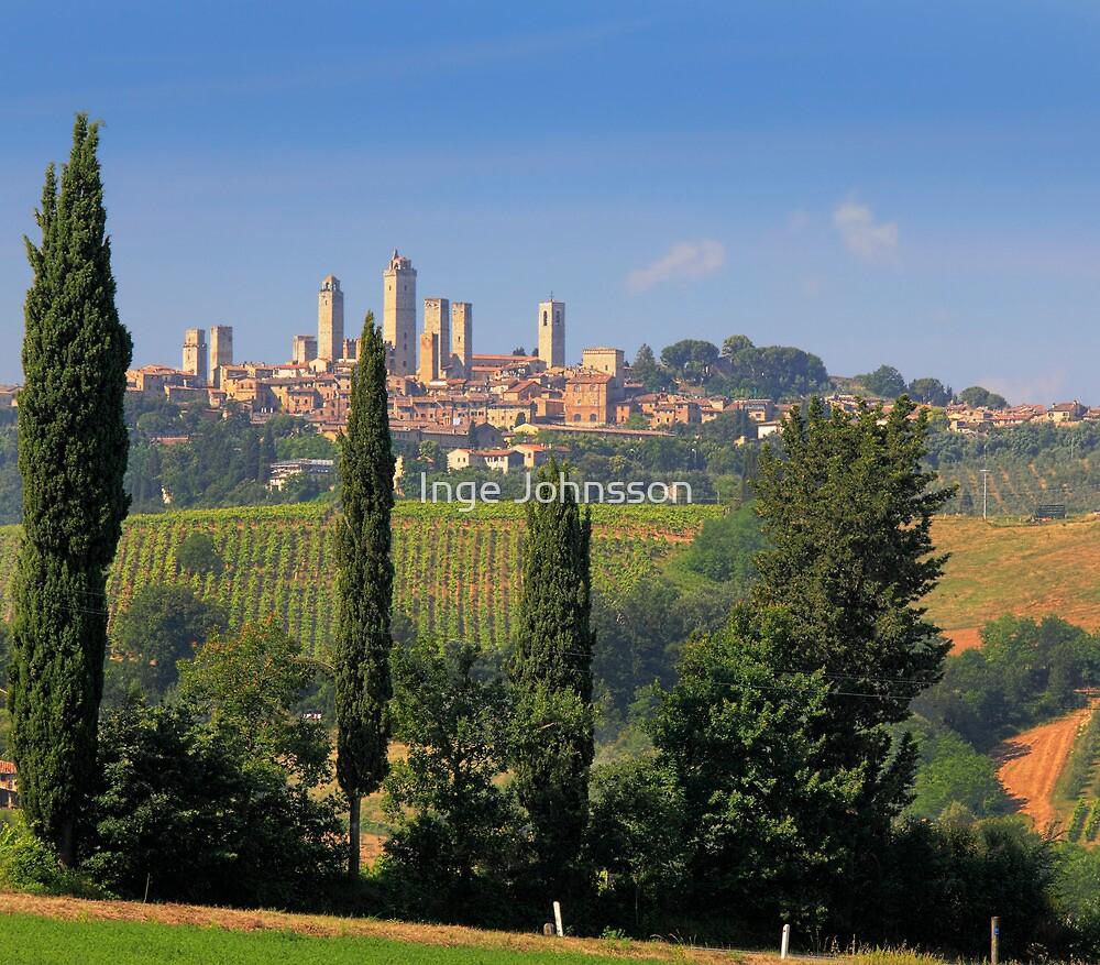 San Gimignano by Inge Johnsson