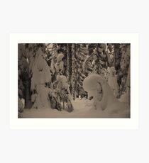 Dog Lake Snowshoeing 2 Art Print