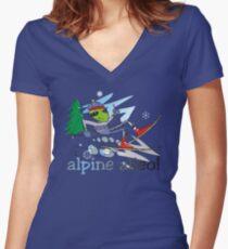 alpine alien Women's Fitted V-Neck T-Shirt