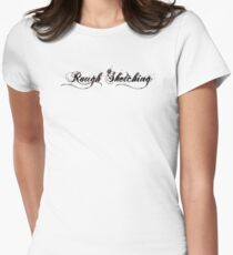 Rough Sketching Logo Womens Fitted T-Shirt