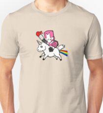 Pink knight unicorn Unisex T-Shirt