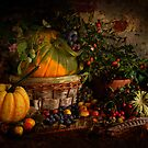 Pumpkin, Squashes and Hedgerow Fruit by Gazart
