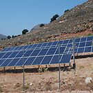 Solar energy panels, Tilos by David Fowler
