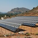 Solar energy panels, Tilos island by David Fowler