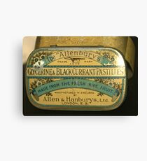 An old tin for what ales you.. Canvas Print