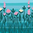 Flowers in the water by MariMansfield